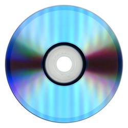 CD (compact disc) for music and data recording isolated over white background