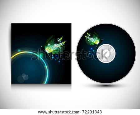 CD Cover Design. Vector version available in my gallery.