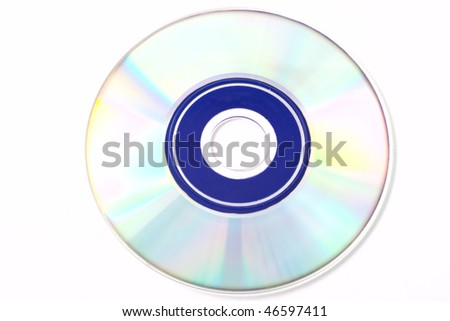 CD disk isolated on white background