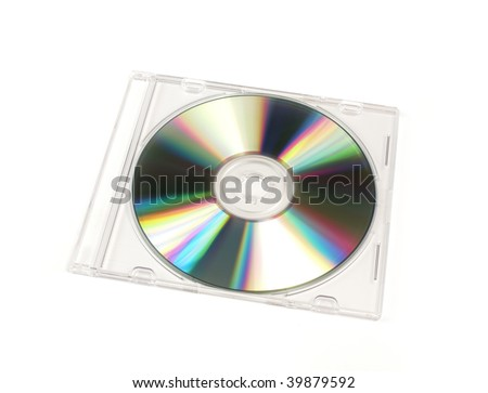 slim dvd cover template. stock photo : CD/DVD closed