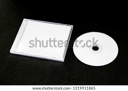 cd dvd cover album design template mockup  on black background for musician
