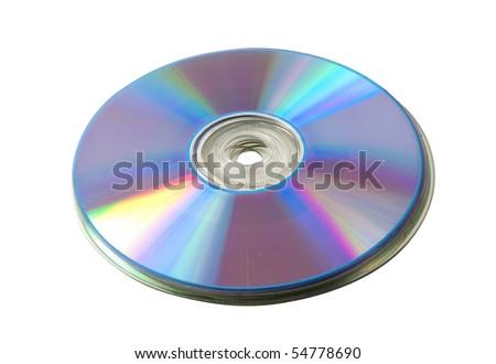 CD heap over white