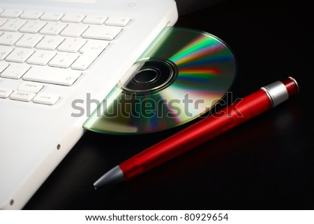 cd in a notebook