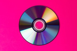 CD isolated in pink background