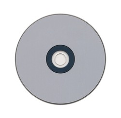 CD isolated on a white background closeup