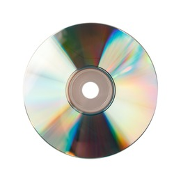 CD isolated on white background close up