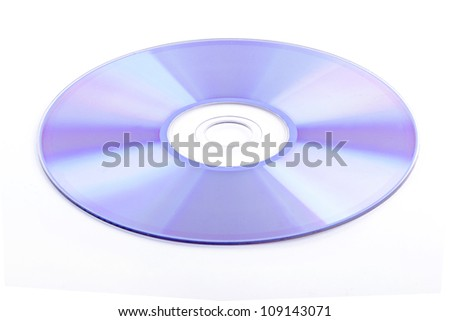 CD rom isolated on white background