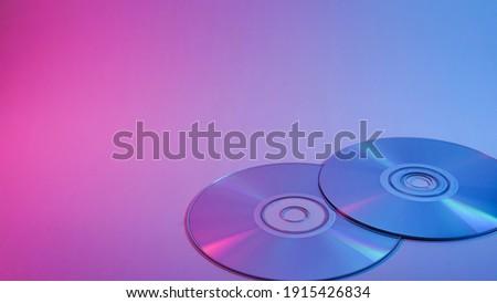 CD-ROM . red and blue illumination, cyberpunk photo Foto stock ©