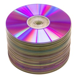 CD stack isolated on white