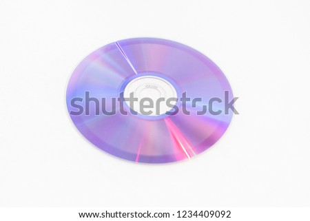 CDs DVDs - Blank recordable DVDs (DVD-R) purple discs on white background #1234409092
