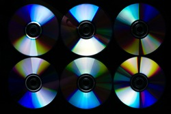 CDs in a recording studio.