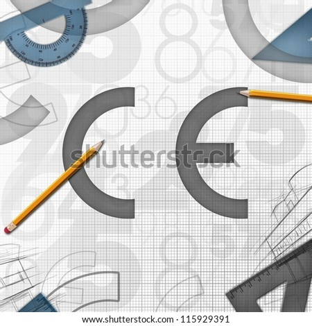 CE European Community logo background illustration