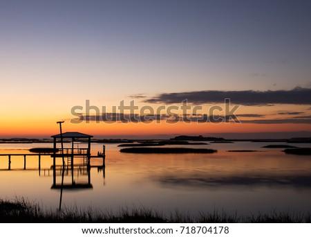 cedar key  florida. dock with...