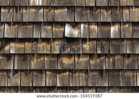 Cedar shingles for siding and roof
