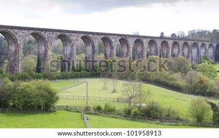 Cefn viaduct North Wales UK