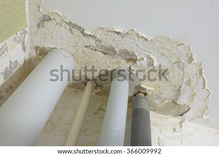 ceiling damage from flooding
