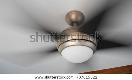 Ceiling fan in motion #787815322