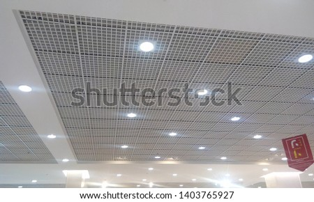 Ceiling finishes of both painted Gypsum ceiling and Grid ceiling using emulsion paint