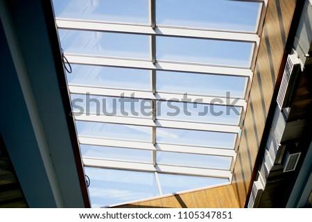 Ceiling. Glazed frames, bottom view Interior design #1105347851