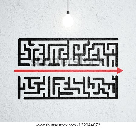 3d Maze Drawing Ceiling Lamp And Drawing Maze