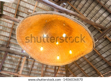 Ceiling Lamp in Country Style. Ceiling lamp for Country Interior Design Room #1406036870