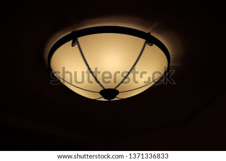 ceiling lamp on the ceiling #1371336833