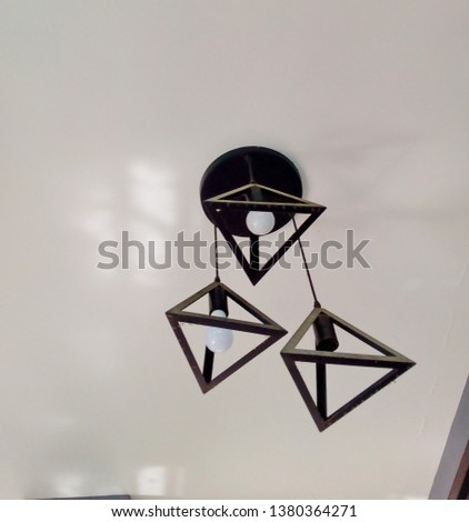 Ceiling lamp, Triangle lamp on the ceiling #1380364271