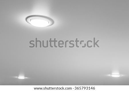 Ceiling light closeup