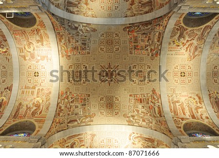 Ceiling of Basilica of Sainte-Anne-de-Beaupre, Quebec, Canada