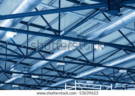 ceiling of the factory