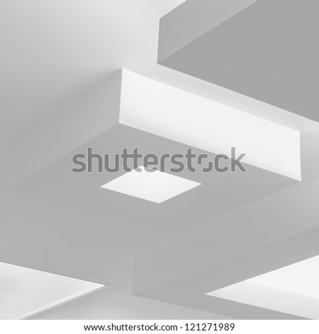 Ceiling with modern design and lighting
