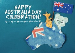 Celebrate Australia Day holiday on January 26 with a Happy Australia Day message greeting written