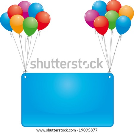 celebrate balloons and banner   (vector in portfolio)