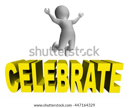 Celebrate Character Representing Party Fun And Cheerful 3d Rendering