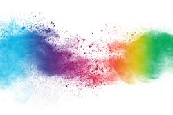 Celebrate festival Holi. Indian Holi festival of colours.Holi color festival background
