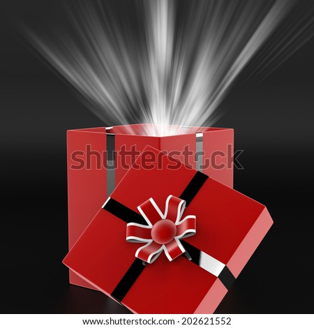 Celebrate Surprise Showing Gift Box And Gifts