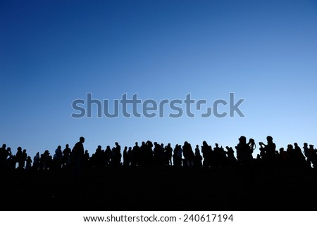 Celebrate travel Crowd Silhouettes