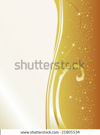 Celebrate with this gold & pearl new years inspired background. Features star bursts and a cascade of sparks.