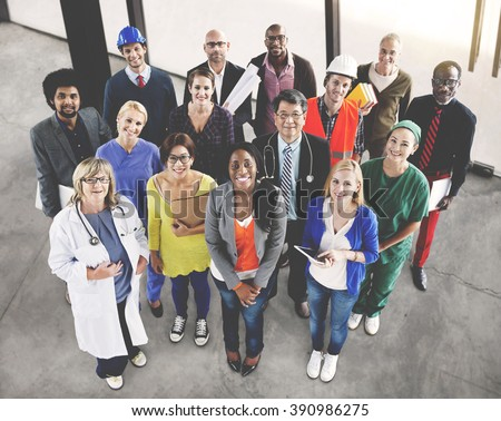 Celebrating Diverse People Various Occupations Concept