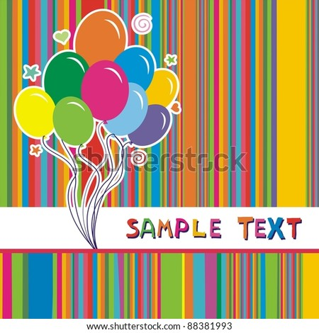 Celebration background. illustration - stock photo