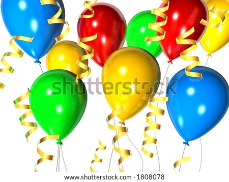 Celebration Balloons Stock Photo 1808078 : Shutterstock