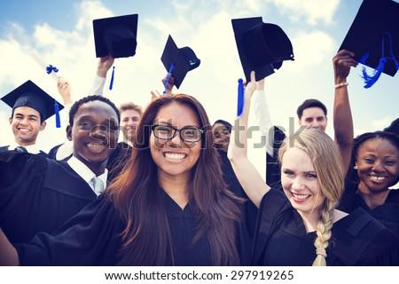 Celebration Education Graduation Student Success Learning Concept #297919265