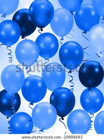 or birthday Party blue