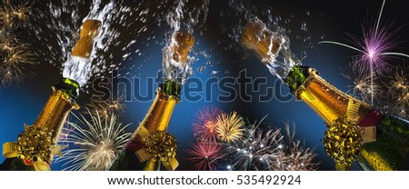 Celebration - Party Time. Celebrating great events with fizz and fireworks. Things such as Weddings, New year, New Life, Success and Winning. #535492924