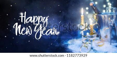 Celebration theme with champagne wine #1182773929