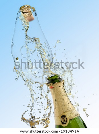 Celebration with drink champagne bubbles