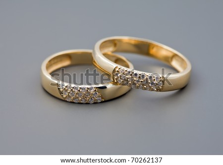 Celebratory accessories - two rings for wedding day and card