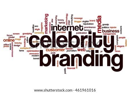 Celebrity branding word cloud