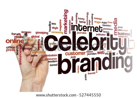 Celebrity branding word cloud