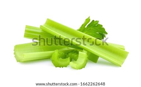 Celery isolated on white background Stockfoto ©
